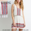 peasant style elasticized embroidered simple and elegant girls fashion dress