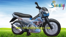 fantastic newest design promotion inflatable motorcycle model for advertising sale