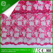 2015 big heavy african nigeria cord lace fabric/guipure lace fabric for THANKSGIVING dresses