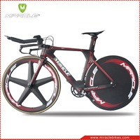 TT Bike,Carbon Fiber Material Carbon TT Bike,China MIRACLE TT/Time Trial/Triathlon Carbon Fiber TT Complete Bike