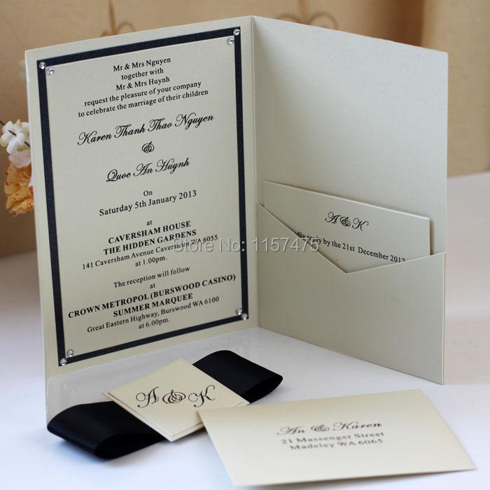 Hi5001 hot sale optional colors pocket fold envelope for for Wedding invitation envelopes for sale