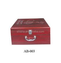 New wooden sample carry case hookah carrying case hookah case