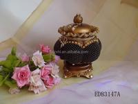 China home decorative resin container /resin jewel box pumpkin series