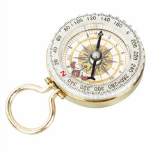 Outdoor Camping Hiking Portable Brass Pocket Golden Compass