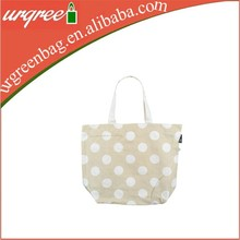 Lovely cotton plain canvas tote bags wholesale with polka dot