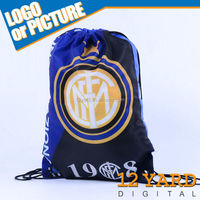 Printed Italy inter milan soccer team logo cotton shoes drawstring backpack/bag and Polyester Canvas Tote Bag