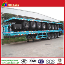 Widely Used Flatbed Truck Trailer Container Carrier Vehicle For Sale