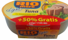 Rio Mare in vegetable oil 160 gr + 80 FREE!