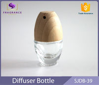 2015 fashion purple hanging car air freshener glass oil bottle car freshener