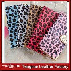 leopard print Magnetic Wallet Flip Leather Case with Card Slot for iPhone 6 Plus