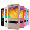 Factory high quality cell phone case for Samsung galaxy grand prime with window flip cover