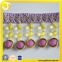 China wholesale lampshade beaded fringe, table beads fringe,curtain bead fringes