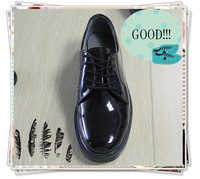 JR-0002 glossy black genuine leather Rubber goodyear craft mens formal shoes