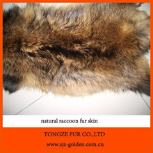 Plush Real Raccoon Dog Fur Skin Factory Prices