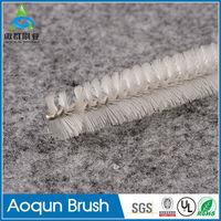 Elaborate twisted wire tube brushes gimp