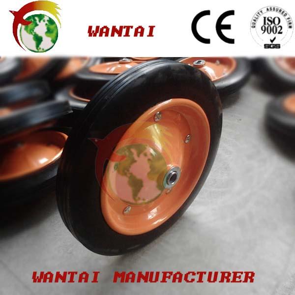 إطارات المطاط الصلب عجلة العربة ذات العجلات المطاطية الساندة