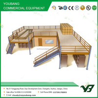 Hot sell best price heavy duty warehouse multi lever steel structure mezzanine rack /steel platform shelves (YB-WR-C44)