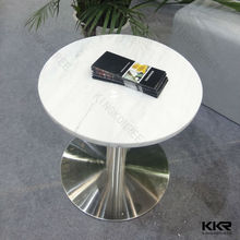 Modern natural look artificial stone coffee table, natural stone dining table