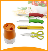 new style kitchen tool food safe colorful coating knives in bulk