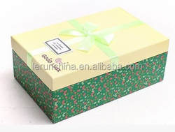 Matt paper gift packaging corrugated cardboard boxes for towel
