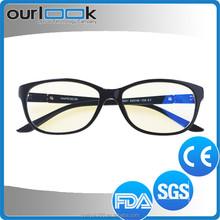 2015 nuova e alla moda colorato anti blu ray vintage rotondo nero di plastica trasparente occhiali