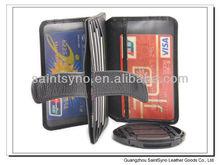 12016 Genuine leather 3m sticker smart wallet mobile card holder for promotion