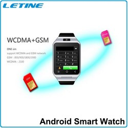 Letine Smartwatch WCDMA Android Watch Phone With 5.0 M Camera Smart Watch Android 4.4 OS In Stock