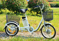three wheel bicycle electric tricycle for handicap with brushless motor