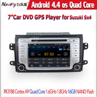 Quad-core Android 1024x600HD Capacitive screen car gps navigator for Suzuki SX4 Free shipping for Sample