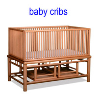 Pine wooden baby cribs, paulownia wooden baby bed, beech wholesale baby cribs for girls or boys