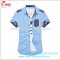 fachion venta caliente nuevo diseño de algodón egipcio de camisas de vestir de algodón fresco camisas camiseta de fútbol