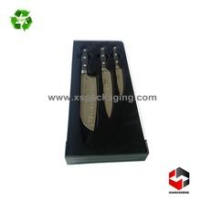 China golden supplier custom made velvet insert rigid gift packing box