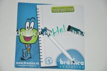 2012 cheap promotional gifts pvc magnetic board & mark pen