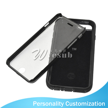 Cute Full Around Black Silicone TPU 2D 5 Inch Blank Sublimation Cell Phone Case For iPhone 6