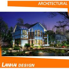 Linda casa rendição 3D Projeto