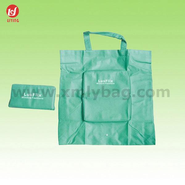 Promotional Supermarket Polyester Foldable Reusable Bag