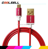 1.0m Micro USB Data USB Cable Support Android 5.0 USB Data Cable with metal shell Process By Coolsell