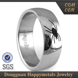 Wholesale Price Stainless Steel Custom-Tailor Emerald In Silver Ring For Men