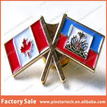 Qibla Direction U.N Gold plated Canada Country Flags confederate METAL LAPEL PINS/METAL BADGE/PIN BADGE