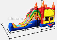 commercial pvc inflatable combo bouncer with art panel for sale NC023
