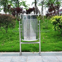 China top open Outdoor stainless steel waste recycling bin