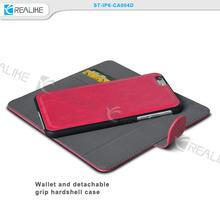 hot sale magnet flip detachable wallet leather case for iphone 5
