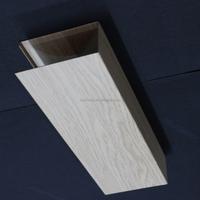 With 38# Main Runner Wood Grain Suspended Metal Linear Ceiling U aluminum Screen Ceiling Tiles