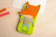 Cute Silicone Rubber Cover Mobile Animal Shaped for Sale