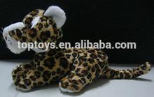 Xcl2681 de leopardo de la felpa juguetes, suave de la felpa de leopardo