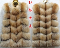 new style real red fox fur vest