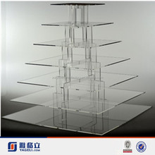 7 Tier Clear Acrylic cupcake and cake tower display stand Round Clear Plexiglass