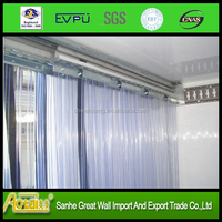 Super clear transparent flexible Soft PVC plastic strip curtain roll, pvc strip curtain