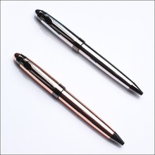 Tapered head luxury metal ball pen with parker refills as business gift