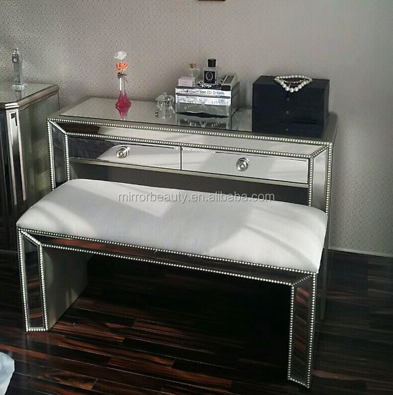 Wholesale glass dressing table with drawers buy glass for Cheap dressing table